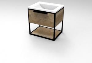 Мебель для ванной комнаты Шкафчик с умывальником Koller Pool Neon 70 + Глория 70 (дуб корабельный)