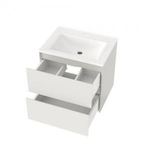 Шкафчик с умывальником Koller Pool Neon Cube 60 + Глория 60 (белый)
