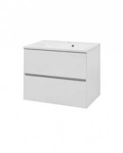 Мебель для ванной комнаты Шкафчик с умывальником Koller Pool Neon Cube 80 + Глория 80 (белый)