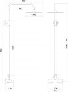 Душевая система GLOBUS LUX SICILIA SBQ-SH-105