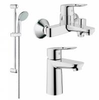 Смесители для ванны Набор смесителей GROHE BAULOOP 123214S (23337000+32815000+27598000)