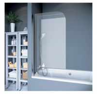 Шторки для ванной Шторка на ванну KOLLER POOL QP93 (75x140), chrome-grape