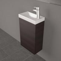 Мебель для ванной комнаты Шкафчик с умывальником FANCY MARBLE Java ШН-400 + Ida 400 (Венге)
