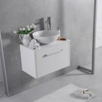 Мебель для ванной комнаты Шкафчик с умывальником FANCY MARBLE Fiji 600 + Mona (Белый)
