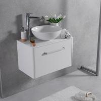 Мебель для ванной комнаты Шкафчик с умывальником FANCY MARBLE Fiji 700 +  Mona (Белый)