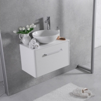 Мебель для ванной комнаты Шкафчик с умывальником FANCY MARBLE Fiji 900 + Mona (Белый)