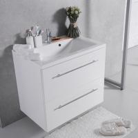 Мебель для ванной комнаты Шкафчик с умывальником FANCY MARBLE Goa ШН-72 + Dallas (Белый)
