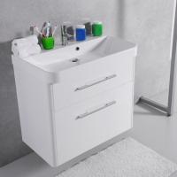 Мебель для ванной комнаты Шкафчик с умывальником FANCY MARBLE Devon ШН-800 + Carla 800C (Белый)