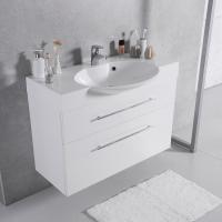 Мебель для ванной комнаты Шкафчик с умывальником FANCY MARBLE Sumatra 2 + Carme 980C (Белый)