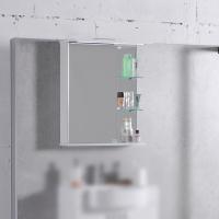Мебель для ванной комнаты Шкафчик с зеркалом  FANCY MARBLE ШЗ-8 (Белый)