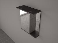 Мебель для ванной комнаты Шкафчик с зеркалом  FANCY MARBLE ШЗ-8 (Венге)