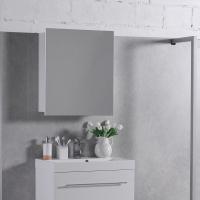 Мебель для ванной комнаты Шкафчик с зеркалом  FANCY MARBLE ШЗ-700 (Белый)