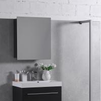 Мебель для ванной комнаты Шкафчик с зеркалом  FANCY MARBLE ШЗ-700 (Венге)