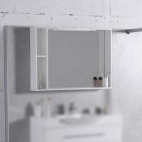 Мебель для ванной комнаты Шкафчик с зеркалом  FANCY MARBLE ШЗ-980 (Белый)