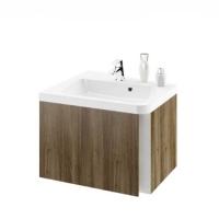 Мебель для ванной комнаты Шкафчик под умывальник RAVAK 10° L/R 55х48,5 (темный орех)