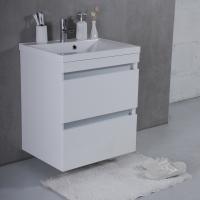 Мебель для ванной комнаты Шкафчик с умывальником FANCY MARBLE Borneo 600 + Lucia (Белый)