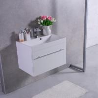 Мебель для ванной комнаты Шкафчик с умывальником FANCY MARBLE Corsica ШН-700 + Signe (Белый)