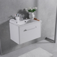 Мебель для ванной комнаты Шкафчик с умывальником FANCY MARBLE Bali 70 + Annabelle (Белый)