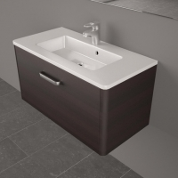 Мебель для ванной комнаты Шкафчик с умывальником FANCY MARBLE Bali 80 + Annabelle (Венге)