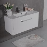 Мебель для ванной комнаты Шкафчик с умывальником FANCY MARBLE Bali 90 + Annabelle (Белый)