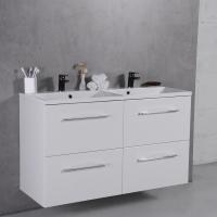 Мебель для ванной комнаты Шкафчик с умывальником FANCY MARBLE Cuba ШН-Am1200D + Amelia