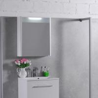 Мебель для ванной комнаты Шкафчик с зеркалом  FANCY MARBLE MC-Santorini 600 (Белый)