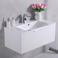 Мебель для ванной комнаты Шкафчик с умывальником FANCY MARBLE Bermuda 1 + Amelia 900 (Белый)