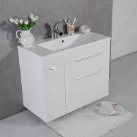 Мебель для ванной комнаты Шкафчик с умывальником FANCY MARBLE Bermuda 2 + Amelia 900 (Белый)