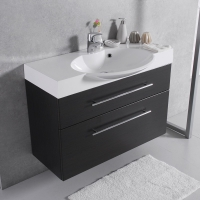 Мебель для ванной комнаты Шкафчик с умывальником FANCY MARBLE Sumatra 2 + Carme 980C (Венге)