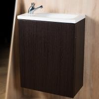 Мебель для ванной комнаты Шкафчик с умывальником FANCY MARBLE Java ШН-500 +  Linnea 500 (Венге)