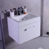 Мебель для ванной комнаты Шкафчик с умывальником FANCY MARBLE Santa Cruz + Lily 600C (Белый)