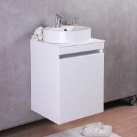 Мебель для ванной комнаты Шкафчик с умывальником FANCY MARBLE Sheldon 500 + Renata 430 (каменная столешница)