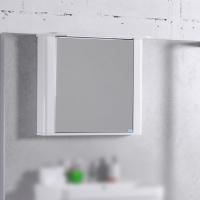 Мебель для ванной комнаты Шкафчик с зеркалом  FANCY MARBLE ШЗ-Carla 800 (Белый)