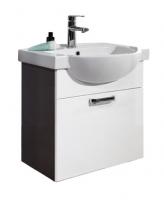 Мебель для ванной комнаты Набор мебели COLOMBO Акцент 2 белый/венге (65 см.)
