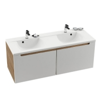 Мебель для ванной комнаты Шкафчик под умывальник RAVAK SD Classic 130х47 (цвет корпуса Латте)