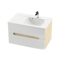 Мебель для ванной комнаты Шкафчик под умывальник RAVAK SD Classic II 80х49 L/R (цвет корпуса Береза)