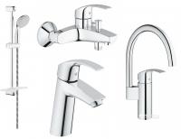 Смесители для ванны Набор смесителей GROHE Eurosmart М 123248МK + кухонный смеситель