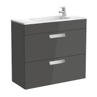 Мебель для ванной комнаты Шкафчик с умывальником ROCA Debba 80 A855907153 (серый)