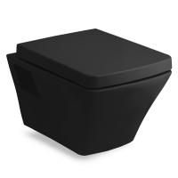 Унитазы Унитаз подвесной VOLLE Teo с крышкой SoftClose (black)