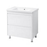 Мебель для ванной комнаты Шкафчик с умывальником ЮВВИС Валенсия Кантэ 80 ТН-2 Д