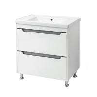 Мебель для ванной комнаты Шкафчик с умывальником ЮВВИС Валенсия Кантэ 80 ТН-2 Д - серый