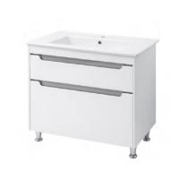Мебель для ванной комнаты Шкафчик с умывальником ЮВВИС Валенсия Принц 90 ТНБ-2 Д - серый