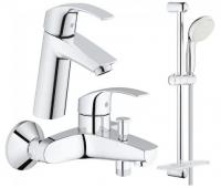 Смесители для ванны Набор смесителей GROHE EUROSMART 123246M (23324001 + 33300002 + 27926000)