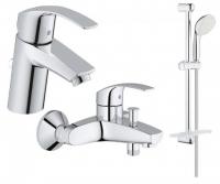 Смесители для ванны Набор смесителей GROHE EUROSMART 123238S (23324001 + 33300002 + 27926000)