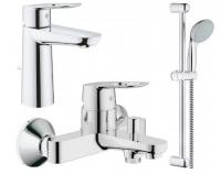 Смесители для ванны Набор смесителей GROHE BAULOOP 123215M (23762000 +32815000+27598000)