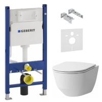 Инсталляции для унитаза Инсталляция GEBERIT Duofix (3-в-1) 458.126.00.1 с унитазом LAUFEN  Pro Rimless H8619570000001
