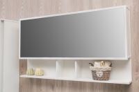 Мебель для ванной комнаты Шкафчик с зеркалом  FANCY MARBLE ШЗ-Butterfly 2 90 (Белый)