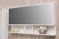 Мебель для ванной комнаты Шкафчик с зеркалом  FANCY MARBLE ШЗ-Butterfly 2 100 (Белый)