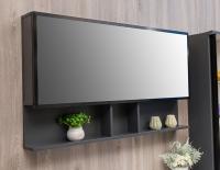 Мебель для ванной комнаты Шкафчик с зеркалом  FANCY MARBLE ШЗ-Butterfly 2 100 (Черный)