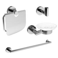 Аксессуары для ванной комнаты Набор аксессуаров IMPRESE Hranice 4в1 100014